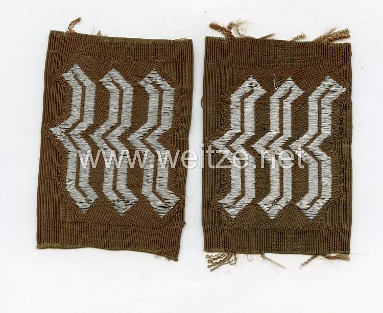 Organisation Todt Paar Kragen-Rangabzeichen für einen Hauptfrontführer