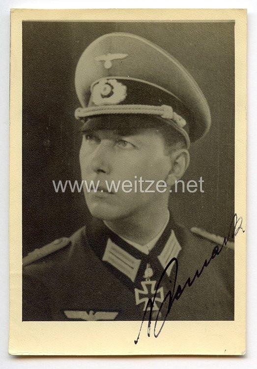 Heer - Originalunterschrift von Ritterkreuzträger Major Horst Niemack