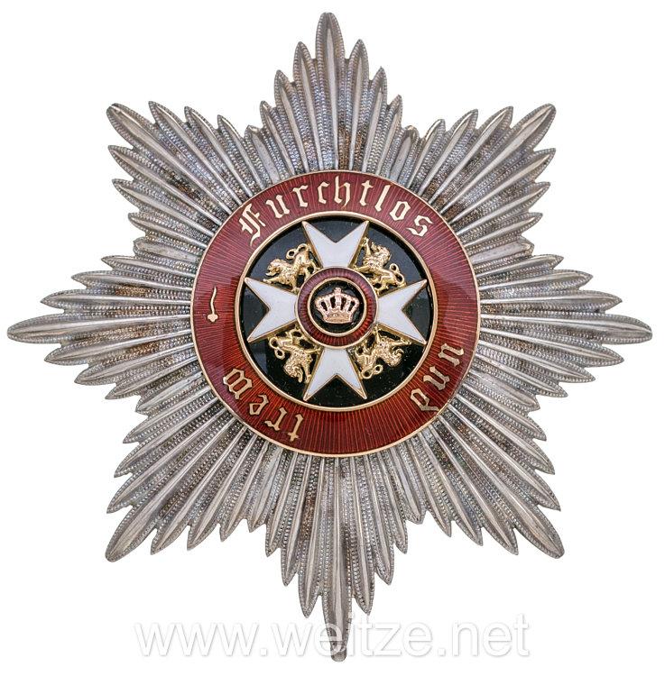 Württemberg Orden der Württembergischen Krone Bruststern zum Großkreuz
