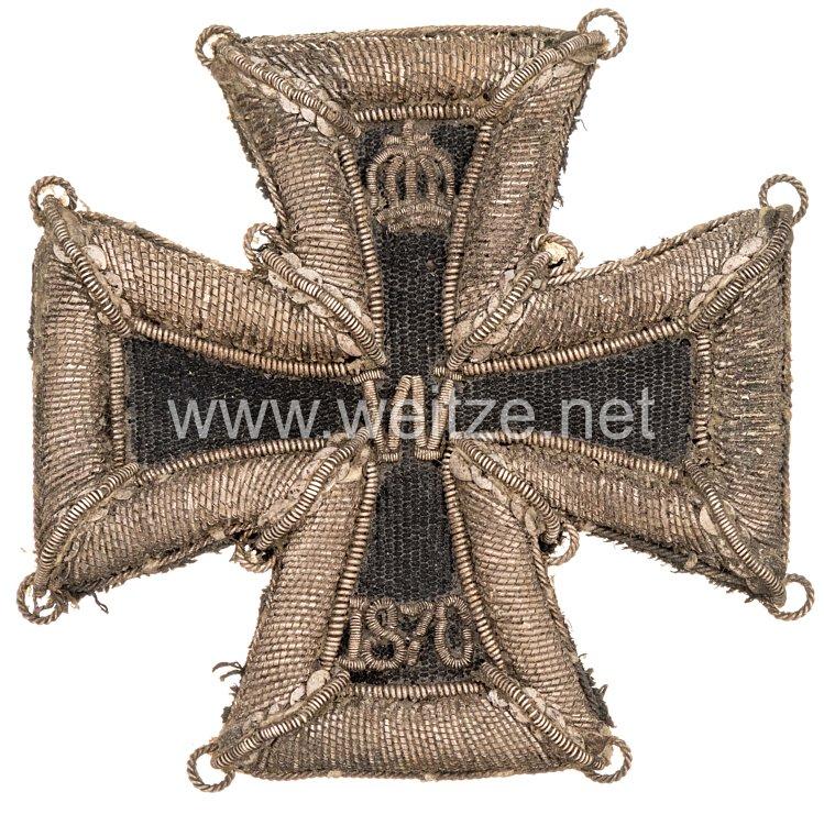 Eisernes Kreuz 1870 1. Klasse - handgestickte Ausführung