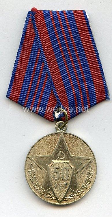 Sowjetunion Jubiläum Medaille: 50 Jahre Sowjet Miliz
