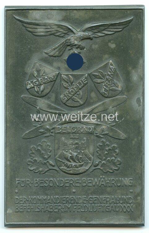 Luftwaffe Ehrenplakette des Feld-Luftgaues XXX