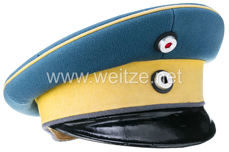 Preußen Schirmmütze für Offiziere im Dragoner-Regiment von Bredow (1. Schlesisches) Nr. 4