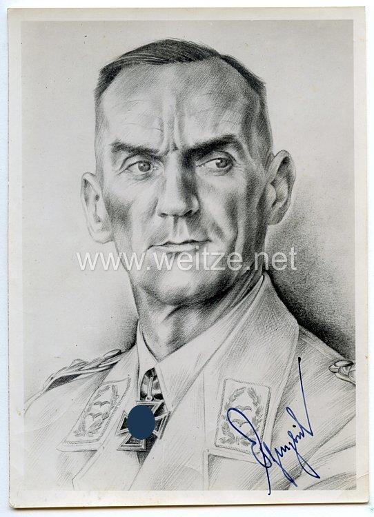 Luftwaffe - Originalunterschrift von Ritterkreuzträger Generalleutnant Kurt Pflugbeil