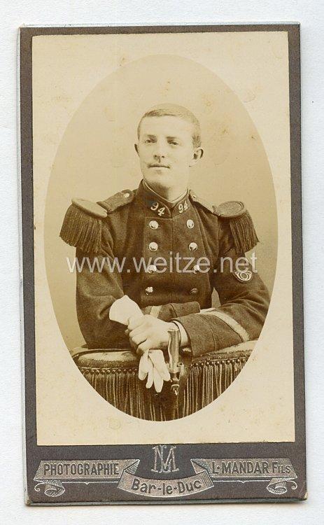 Frankreich Kabinettfoto eines Soldaten im 94. InfanterieRgt. aus