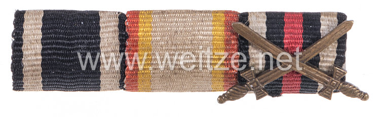 Bandspange eines mecklenburgischen Veteranen des 1. Weltkriegs