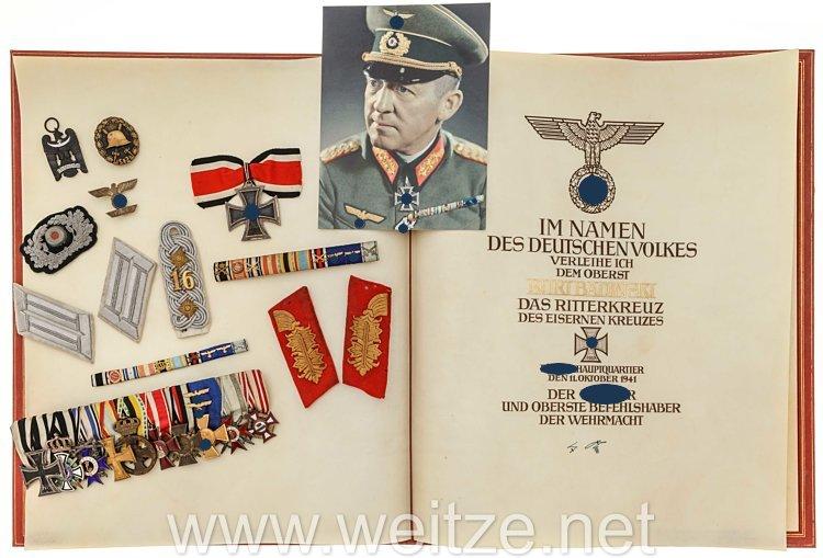Wehrmacht : großer Nachlass des Ritterkreuzträgers Generalleutnant Curt Badinski