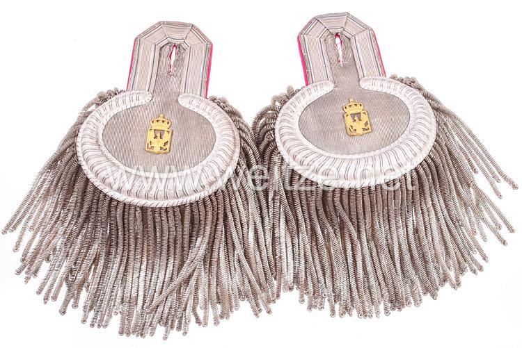 Preußen Paar Epauletten für einen für einen Militär-Intendanturrat Rat 4. Klasse