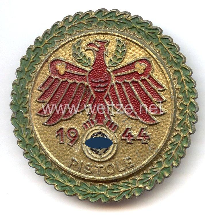 Standschützenverband Tirol-Vorarlberg -Gaumeisterabzeichen 1944 in Gold mit Eichenlaubkranz