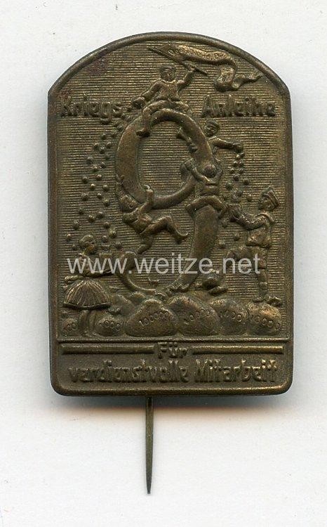 """Österreich / K.u.K. Monarchie 1. Weltkrieg Abzeichen """"9. Kriegsanleihe Für verdienstvolle Mitarbeit"""""""