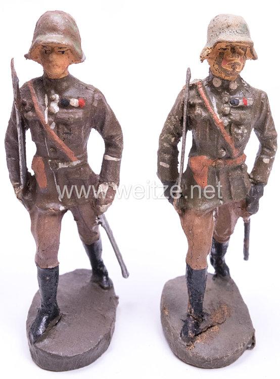 Elastolin - Heer 2 Offiziere im Marsch