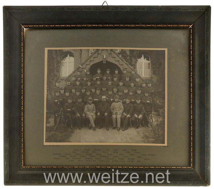 Preußen Gerahmte Fotografie eines Jahrgangs der Waldschule (Forstschule) Templin