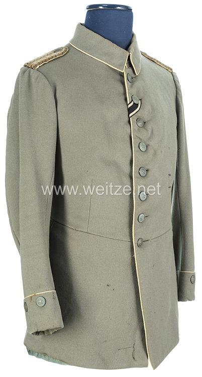 Preußen feldgrauer Waffenrock für einen Zahlmeister im Range eines Leutnants