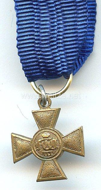 Sachsen Königreich Kreuz für 25 Dienstjahre für Offiziere - Miniatur