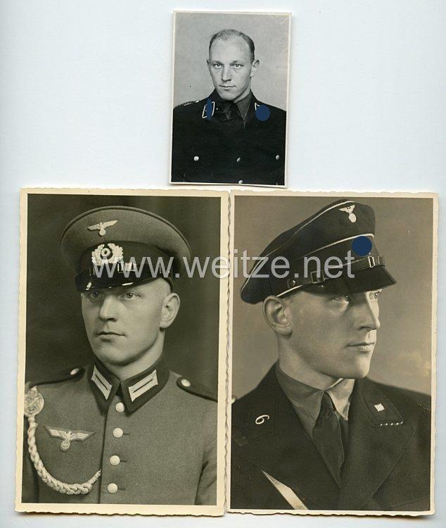 Allgemeine-SS Fotos, SS-Unterscharführer mit Schirmmütze