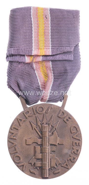 """Italien Medaille für Kriegsfreiwillige im Spanischen Bürgerkrieg """"Guerra po la Unidad Espanola""""."""