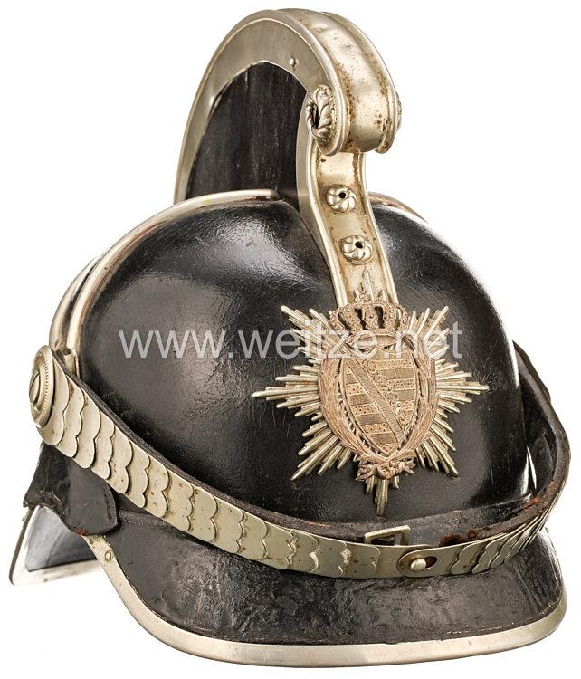 Königreich Sachsen Helm für Mannschaften der Gendarmerie