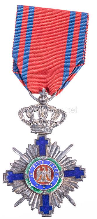Königreich Rumänien : Orden vom Stern Rumäniens 1. Modell 1877-1932, Ritterkreuz mit Schwertern