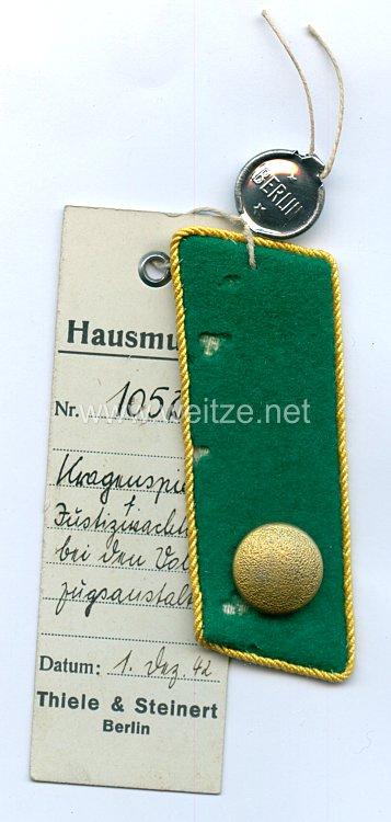III. Reich Einzel Kragenspiegel für einen Justizwachtmeisterbei Vollzugsanstalten