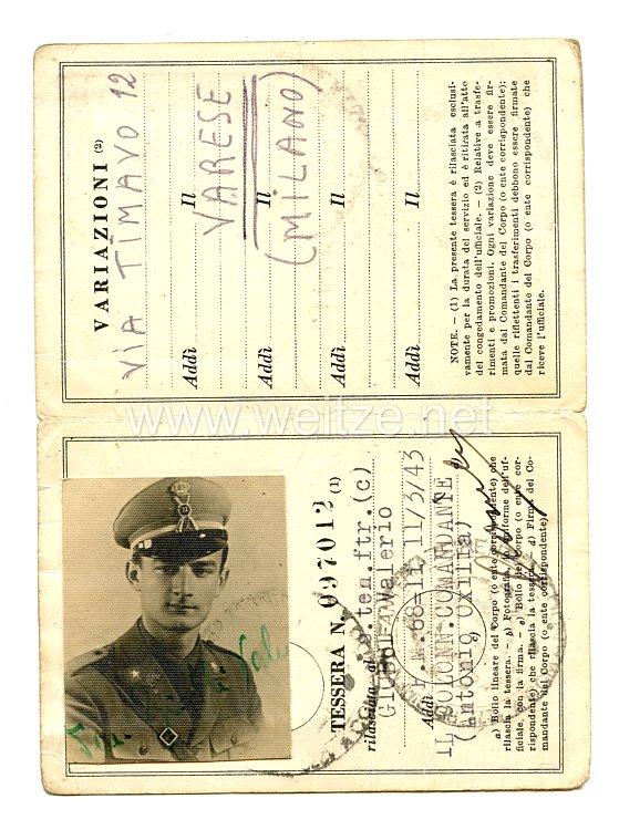 Italien Heer Ausweis für einen Offizier