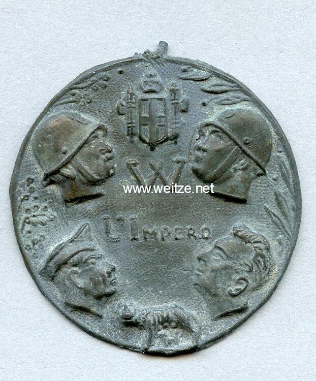"Italien 2. Weltkrieg Medaille ""Abbiamo Vinto E Vinceremo"""
