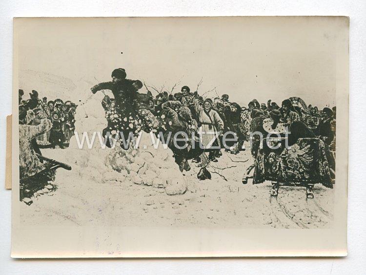 3. Reich Pressefoto: Kosakendarstellung aus russischer Zeit 15.1.943