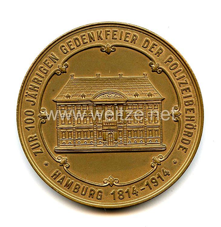 Deutsches Kaiserreich - Medaille, Dienstauszeichnung für Polizeibeamte der Stadt Hamburg