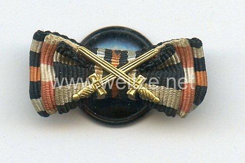 Knopflochdekoration für einen Frontkämpfer des 1. Weltkrieges
