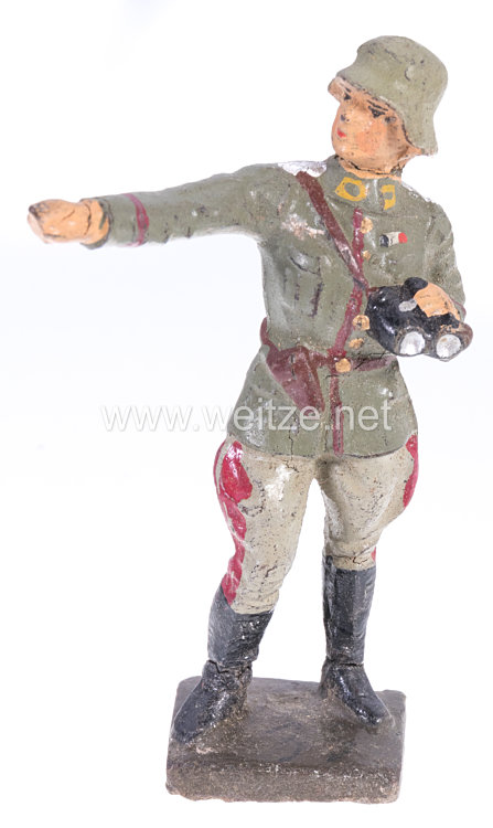 Lineol - Heer Offizier mit Fernglas zeigend