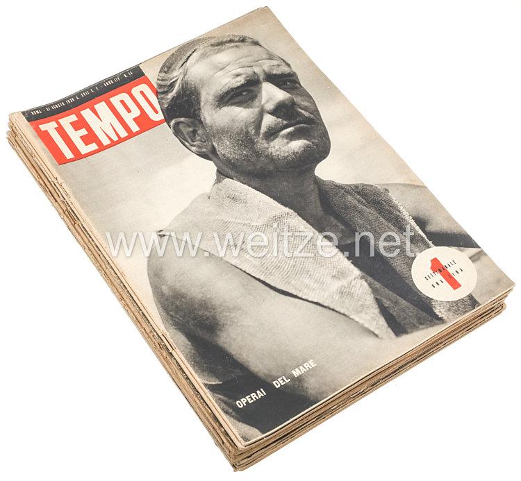 """III. Reich - Konvolut von 28 verschiedenen Heften der italienischen Zeitschrift """" Tempo """" von 1939"""