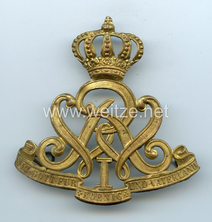 Preußen Beschlag für die Mannschafts Pelzmütze im Husaren Regiment Nr. 7