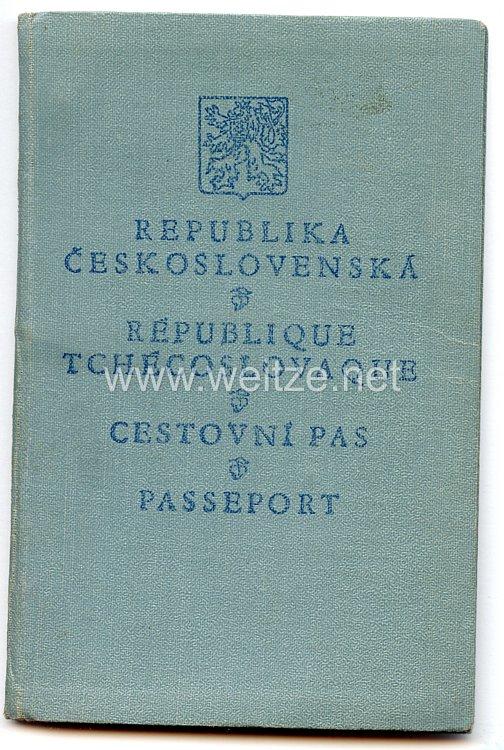 III. Reich -Tschechoslowakei - Personalausweis für eine Frau des Jahrgangs 1870