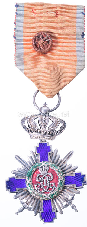 Königreich Rumänien : Orden vom Stern Rumäniens 1. Modell 1877-1932, Offizierskreuz mit Schwertern