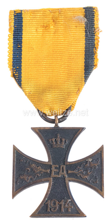 Braunschweig Kriegsverdienstkreuz 2. Klasse 1914