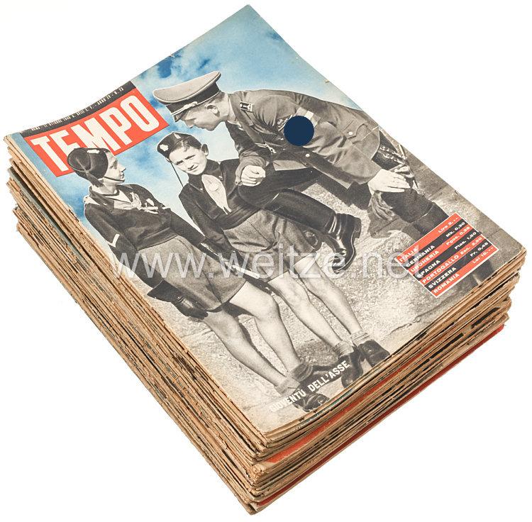 """III. Reich - Konvolut von 51 verschiedenen Heften der italienischen Zeitschrift """" Tempo """" von 1940"""
