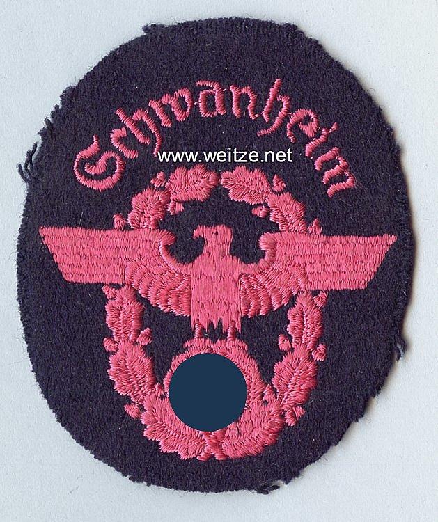 """III. Reich Feuerwehr Ärmeladler """" Schwanheim """""""