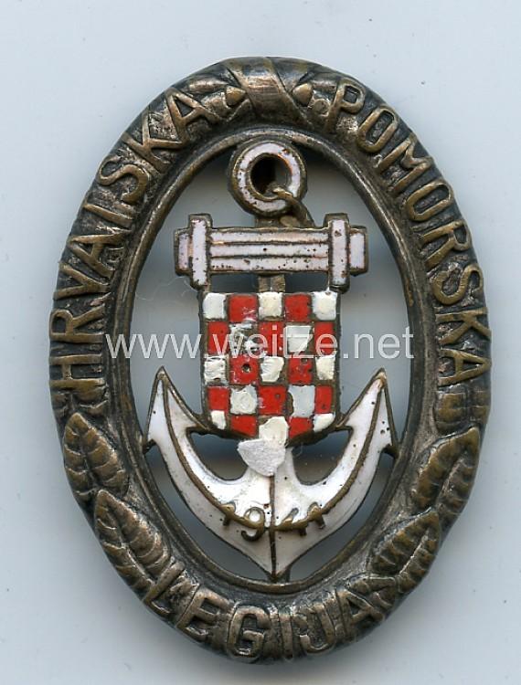Kroatien 2. Weltkrieg Verdienstabzeichen der Kroatischen Marine Legion in Silber