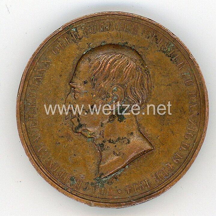Preussen Medaille der Stadt Danzig zum 25 Jubiläum des Oberbürgers Joachim von Weickmann