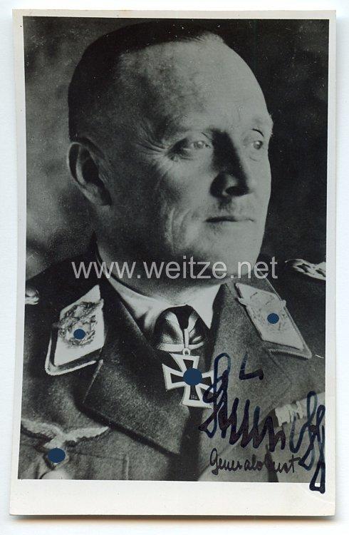 Luftwaffe - Originalunterschrift von Ritterkreuzträger Generaloberst Horst Stumpff