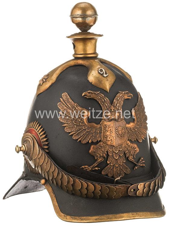 Schleswig-Holstein Helm Modell 1848 für Offiziere im 2. Artillerie-Regiment