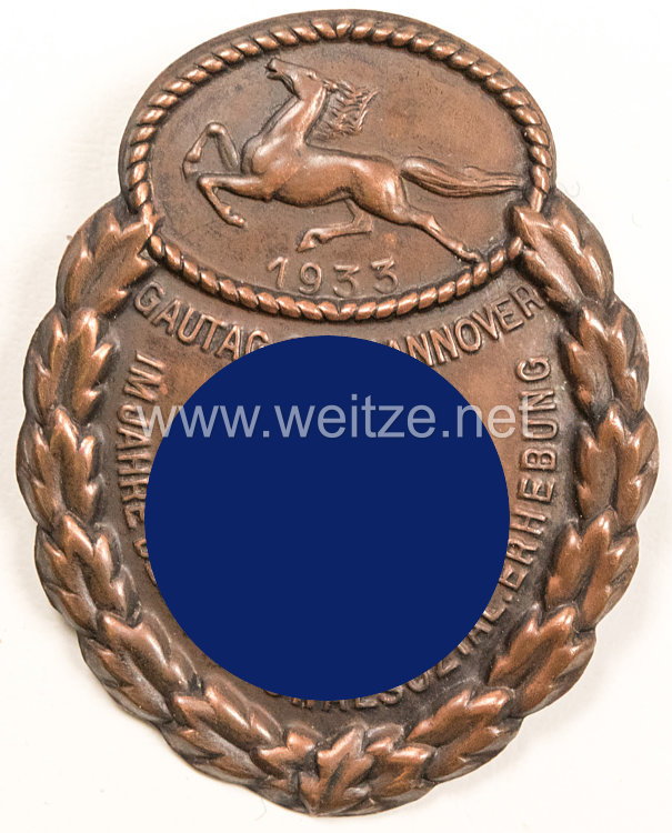 NSDAP Gau-Traditionsabzeichen Osthannover 1933 in Bronze