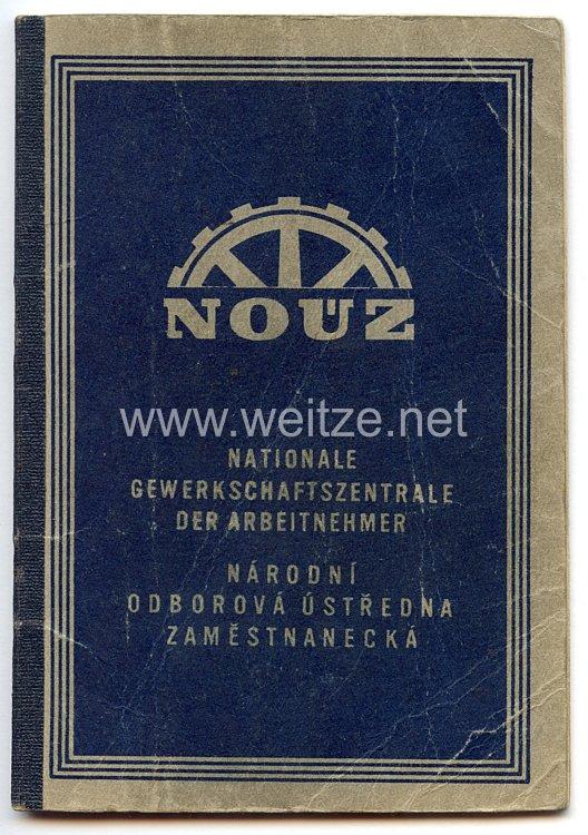III. Reich - Protektorat Böhmen und Mähren - Nationale Gewerkschaftszentrale der Arbeitnehmer - Mitgliedsbuch
