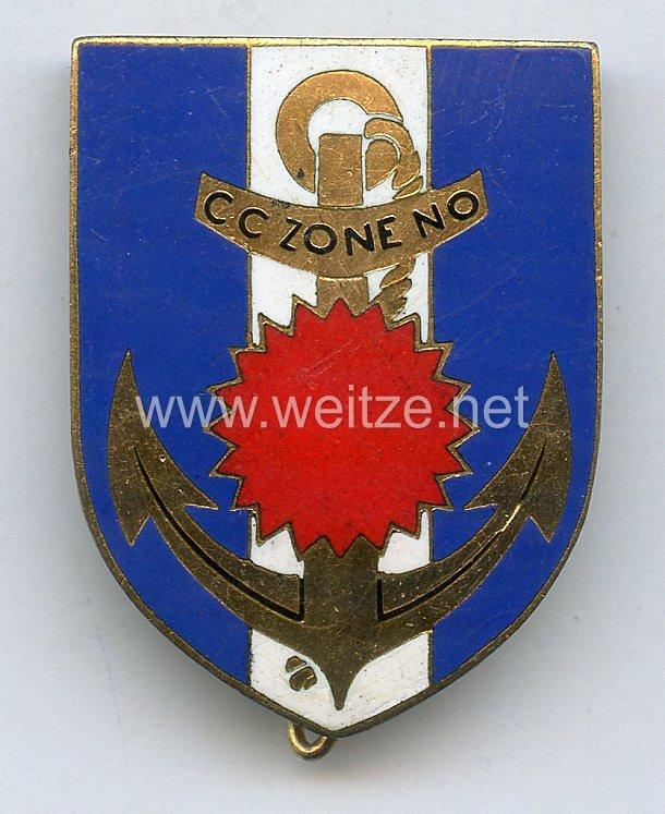 Frankreich Abzeichen C.C ZONE N.O - Compagnie Commandement Zone Nord-Ouest. Indochina