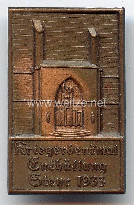 III. Reich - Kriegerdenkmal Enthüllung Steyr 1933 ( Österreich )