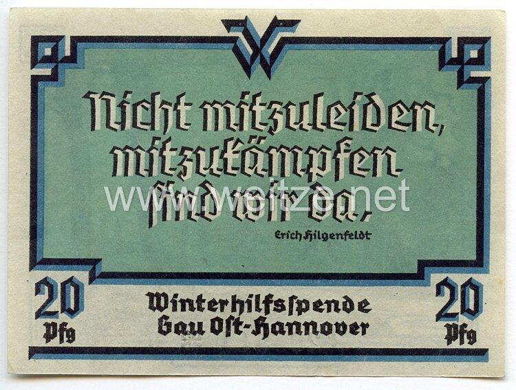 WHW - Gau 24 : Ost-Hannover - Spendenschein