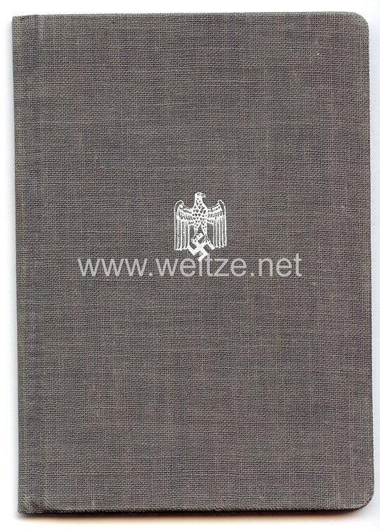 Reichsbund der Wehrmachtbeamten - Mitgliedsbuch