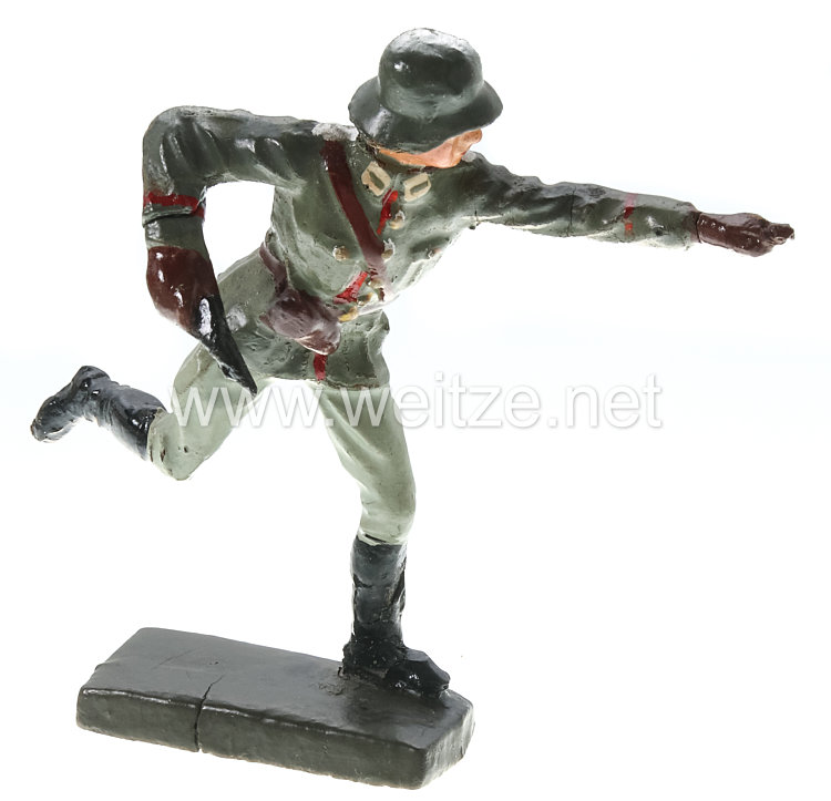 Lineol - Heer Sturmoffizier mit Revolver