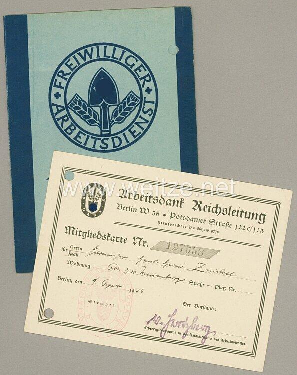 Freiwilliger Arbeitsdienst Arbeitsgau 18 ( Niedersachsen ) - Arbeitsdienstpaß