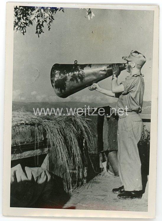 Kriegsmarine Pressefoto, Deutsche Marine-Artilleristen am Mittelmeer 11.1.1944
