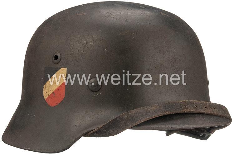 Wehrmacht Stahlhelm M 35 mit 2 Emblemen